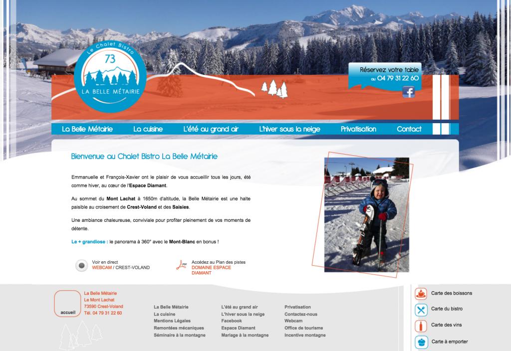site web restaurant La Belle Métairie Crest-Voland